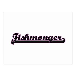 Sistema de trabajo clásico del pescadero tarjetas postales