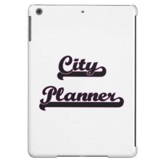 Sistema de trabajo clásico del planificador de la funda para iPad air