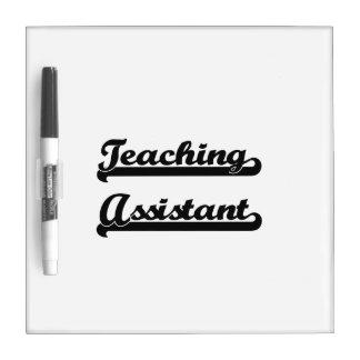 Sistema de trabajo clásico del profesor ayudante pizarra