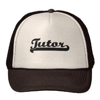 Sistema de trabajo clásico del profesor particular gorras