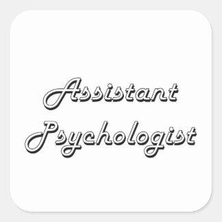 Sistema de trabajo clásico del psicólogo auxiliar pegatina cuadrada