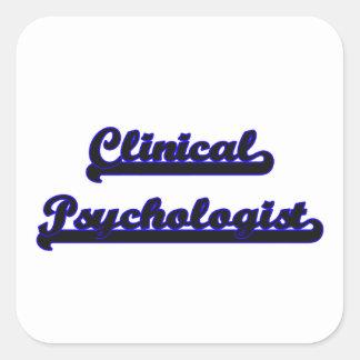 Sistema de trabajo clásico del psicólogo clínico pegatina cuadrada
