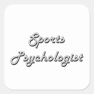 Sistema de trabajo clásico del psicólogo de los pegatina cuadrada