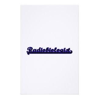 Sistema de trabajo clásico del radiobiólogo papeleria personalizada