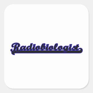 Sistema de trabajo clásico del radiobiólogo pegatina cuadrada
