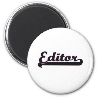 Sistema de trabajo clásico del redactor imán redondo 5 cm