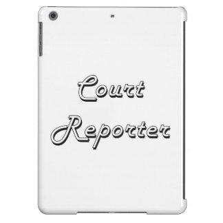 Sistema de trabajo clásico del reportero de corte funda para iPad air