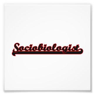 Sistema de trabajo clásico del Sociobiologist Fotografía