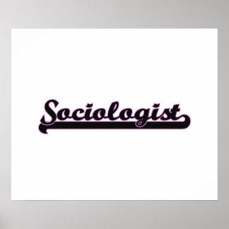 Sistema de trabajo clásico del sociólogo póster