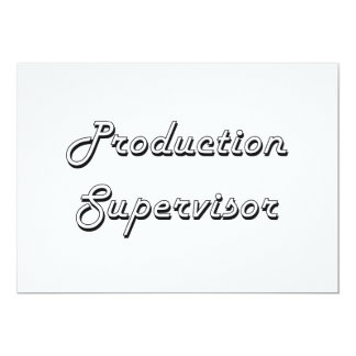 """Sistema de trabajo clásico del supervisor de la invitación 5"""" x 7"""""""