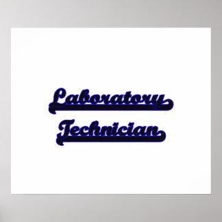Sistema de trabajo clásico del técnico de póster