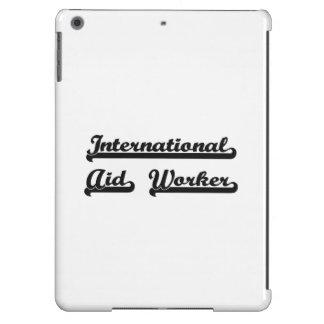 Sistema de trabajo clásico del trabajador de ayuda funda para iPad air