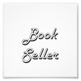 Sistema de trabajo clásico del vendedor de libro fotografias
