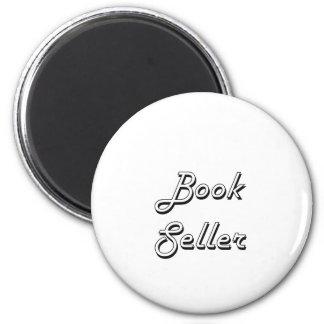 Sistema de trabajo clásico del vendedor de libro imán redondo 5 cm
