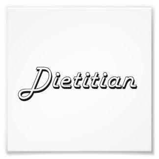 Sistema de trabajo clásico el dietético fotografías