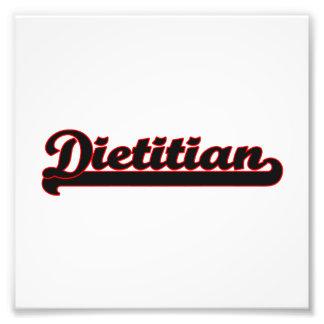 Sistema de trabajo clásico el dietético fotografias