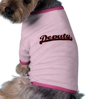 Sistema de trabajo de diputado Classic Camiseta Con Mangas Para Perro