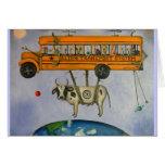 Sistema de transporte extranjero tarjeta de felicitación