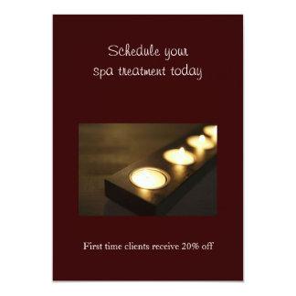 Sistema de velas votivas invitación 12,7 x 17,8 cm