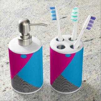Sistema decorativo del baño del neón 80s set de baño