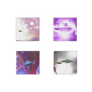 Sistema del arte del UFO de cuatro imanes de Imán De Piedra