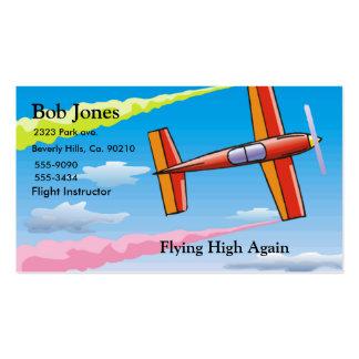 Sistema del avión del cielo tarjetas personales