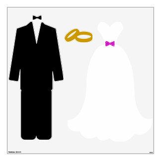 Sistema del boda de novia y del novio