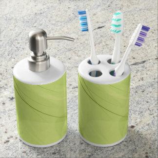 Sistema del dispensador del tenedor y del jabón de set de baño
