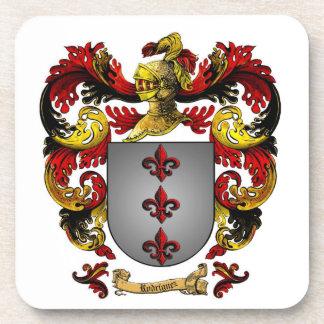 Sistema del escudo de armas de Rodríguez de 6 prác Posavasos De Bebida