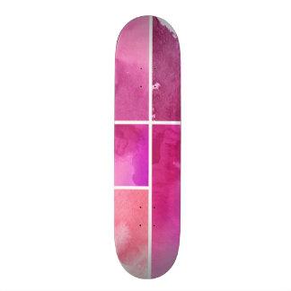 Sistema del extracto 3 pintados a mano de la acuar skate board