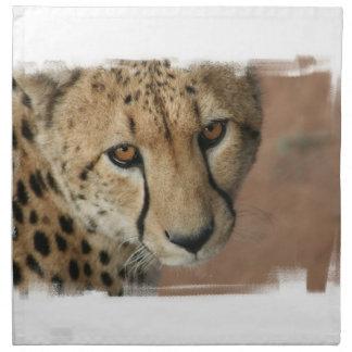 Sistema del gato del guepardo de cuatro servilleta