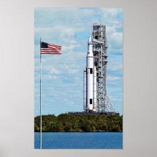 Sistema del lanzamiento del espacio de la NASA Póster