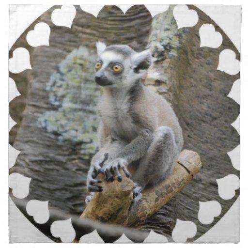Sistema del Lemur Ringtailed del bebé de cuatro Servilleta De Papel