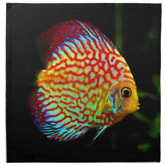 Sistema del lujo del diseño de los pescados del servilleta imprimida