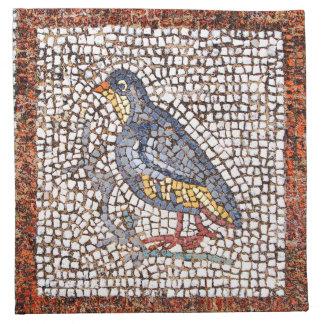 Sistema del mosaico del pájaro de Kos de 4 Servilleta Imprimida