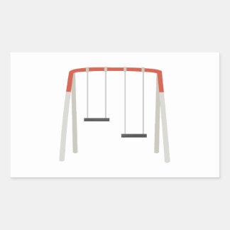 Sistema del oscilación pegatina rectangular