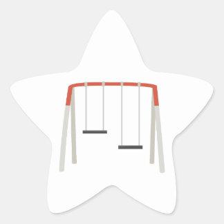 Sistema del oscilación pegatina en forma de estrella
