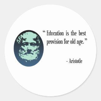 Sistema del pegatina de Aristóteles de la educació