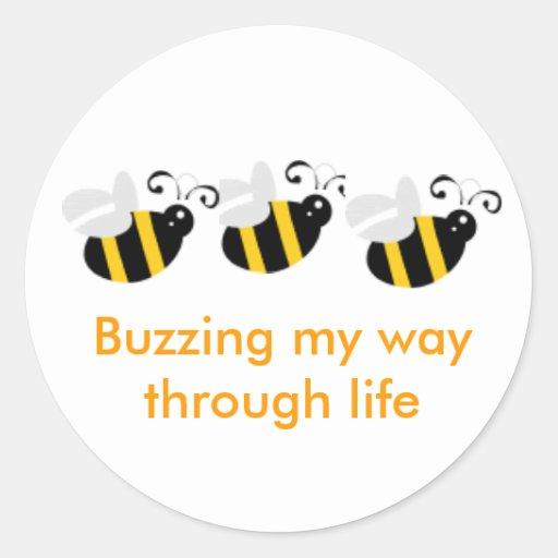 Sistema del pegatina de la abeja