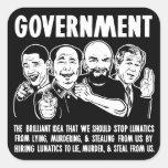 Sistema del pegatina de Lunatics del gobierno