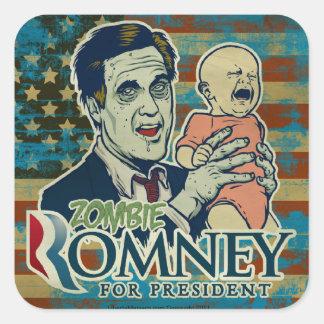 Sistema del pegatina de Romney del zombi