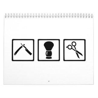 Sistema del peluquero calendario