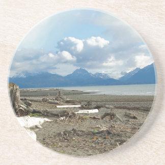 Sistema del práctico de costa de la playa de Alask Posavasos Personalizados