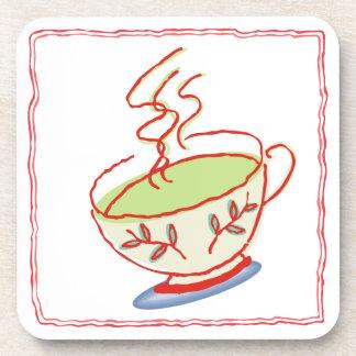 Sistema del práctico de costa de la taza de té posavasos de bebidas