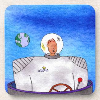 Sistema del práctico de costa del astronauta de posavaso