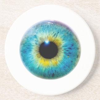 Sistema del práctico de costa del globo del ojo posavasos personalizados