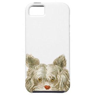 sistema del regalo del arte del buffon del perro iPhone 5 funda
