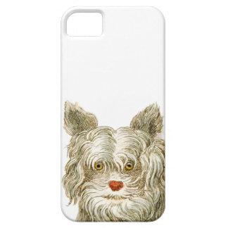 sistema del regalo del arte del buffon del perro iPhone 5 cárcasas