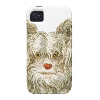 sistema del regalo del arte del buffon del perro vibe iPhone 4 carcasas