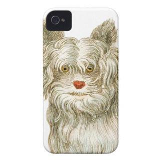 sistema del regalo del arte del buffon del perro iPhone 4 carcasas